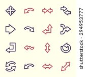 arrows web icons set | Shutterstock .eps vector #294953777