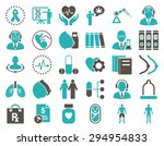 medical icon set. these flat... | Shutterstock .eps vector #294954833