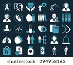 medical icon set. these flat... | Shutterstock . vector #294958163