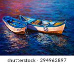 Original Oil Painting  Fishing...
