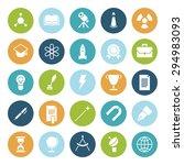 flat design icons for education ... | Shutterstock .eps vector #294983093
