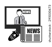 news concept design  vector... | Shutterstock .eps vector #295030673