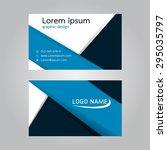 vector design business card.... | Shutterstock .eps vector #295035797