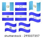 central america flags 1 eps 10 | Shutterstock .eps vector #295037357