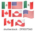 north america flags eps 10 | Shutterstock .eps vector #295037363