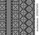 decorative boho ancient hand... | Shutterstock .eps vector #295037693