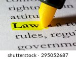 word law highlighted with a... | Shutterstock . vector #295052687