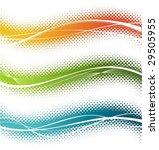 three halftone design elements | Shutterstock .eps vector #29505955