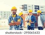 business  building  teamwork... | Shutterstock . vector #295061633