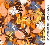 floral seamless pattern  ...   Shutterstock .eps vector #295091273