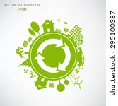 environmentally friendly world. ... | Shutterstock .eps vector #295100387