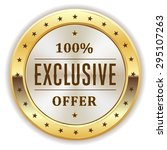 white exclusive offer badge... | Shutterstock .eps vector #295107263