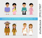 set characters of different... | Shutterstock .eps vector #295117007