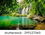 A Beautiful Waterfall In The...