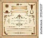 a collection of wild west... | Shutterstock .eps vector #295142237