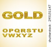 alphabet stylized gold | Shutterstock . vector #295151147