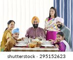 Sikh Family Having Lunch At Th...