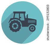 vector flat icon of a tractor | Shutterstock .eps vector #295152803