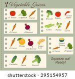 recipe of vegetable juices in... | Shutterstock . vector #295154957