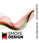 color smoke wave on white  ... | Shutterstock .eps vector #295160993