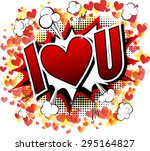 i love you   comic book style... | Shutterstock .eps vector #295164827