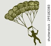 Man Jumping With A Parachute....