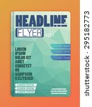 vector adventurer brochure ... | Shutterstock .eps vector #295182773