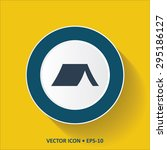 blue vector icon of tent on... | Shutterstock .eps vector #295186127