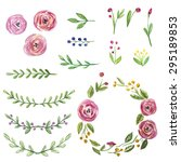 vector set of hand drawn... | Shutterstock .eps vector #295189853