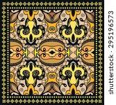 bandana print  silk neck scarf... | Shutterstock .eps vector #295196573