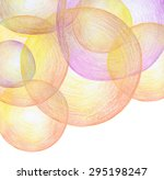 abstract color pencil scribbles ... | Shutterstock . vector #295198247