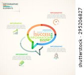 modern infographics options... | Shutterstock .eps vector #295206827