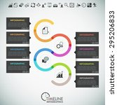 minimal infographics timeline... | Shutterstock .eps vector #295206833