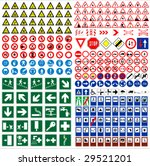 the big sign collection traffic ... | Shutterstock .eps vector #29521201