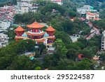 aerial view of colorful buddha... | Shutterstock . vector #295224587