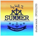 say hello to summer poster  card | Shutterstock .eps vector #295231253