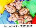 child  family  cheerful. | Shutterstock . vector #295251017