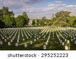 arlington national cemetery us... | Shutterstock . vector #295252223