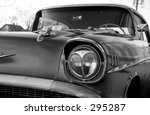 vintage auto in black and white | Shutterstock . vector #295287