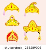 hindu mythological god's crown... | Shutterstock .eps vector #295289003