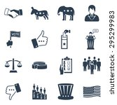 election and voting vector icon ... | Shutterstock .eps vector #295299983