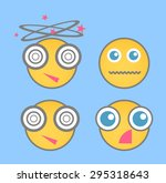shocked smiley vector set | Shutterstock .eps vector #295318643