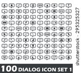 set of 100 dialog icons with...