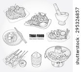 illustration of thai food. | Shutterstock .eps vector #295326857