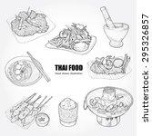 illustration of thai food. | Shutterstock .eps vector #295326857