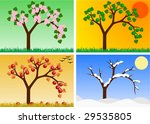 apple tree in four seasons | Shutterstock . vector #29535805