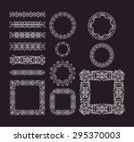 trendy lines  border  frame ...   Shutterstock .eps vector #295370003