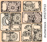 embroidery labels   floral...   Shutterstock .eps vector #295372913