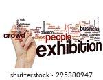 exhibition word cloud | Shutterstock . vector #295380947
