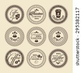 vector coffee stamps set | Shutterstock .eps vector #295382117
